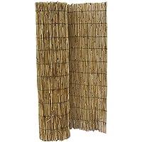 HYF Cerca de caña Natural pelada y Tejida, cañizo de bambú de caña Fina para el jardín, 1 m x 5 m, excelente Valla de ocultación de caña Fina, Ideal para Hacer una Cerca de privacidad en la terraza.