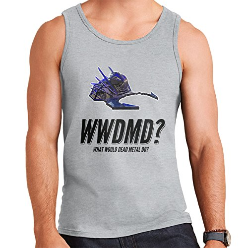 Robot Wars What Would Dead Metal Do Men's Vest Heather Grey