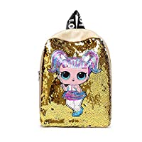 YYD LOL doll, doll pattern backpack gives children the best gift,Yellow