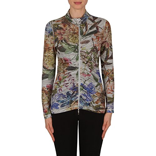 Joseph Ribkoff Front Ruched Floral Print Jacket Style 182664