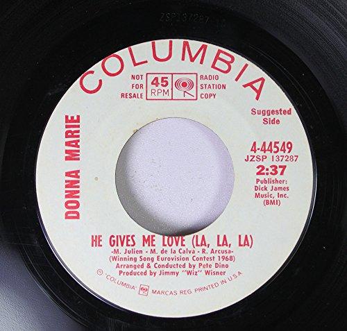 DONNA MARRIE 45 RPM He Give Me Love (La, La, La) / Sunshine Mind