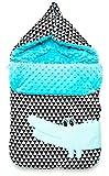 Zaffiro Baby Fußsack Universal Schlafsack Steckkissen, passend für Autoschale, Maxi-Cosi, Kinderwagen, Jogger , Stubenwagen etc. (Krokodil)
