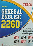 TNPSC Exam Guide for GENERAL ENGLISH 2260 Q & A with Previous Year Examination Solved Papers from 2013 to 2018