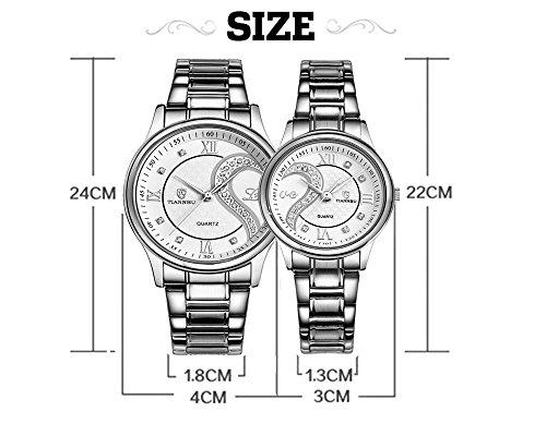OOFIT Damen und Herren Armbanduhren, 1 Paar / 2PC Tiannbu Parneruhr, Edelstahl Armband, Paaruhren