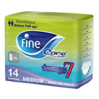 Fine Care, Incontinence Unisex Pull-ups, Waist (80 - 110 cm), Medium, Pack of 14