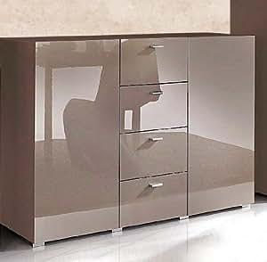 sideboard kommode 544287 cappuccino hochglanz neu k che haushalt. Black Bedroom Furniture Sets. Home Design Ideas