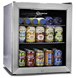 Subcold Super50 LED - Mini Fridge | 50L Beer, Wine & Drinks Chiller | LED Light + Lock & Key | Low Energy A+