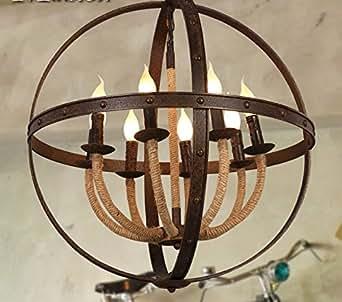 bbslt fer forg lustre corde 600 660 mm luminaires et eclairage. Black Bedroom Furniture Sets. Home Design Ideas