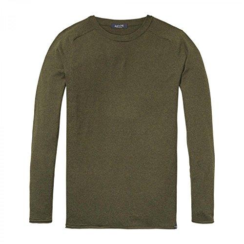758cb6f70e3e01 Scotch & Soda Herren Cotton-Cashmere Pullover Army Melange. Rundhals;  Rundhals ...