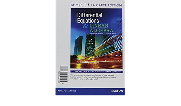 Buy Differential Equations and Linear Algebra, Books a la
