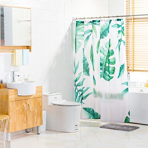 Rideaux de douche Rideau de douche Polyester Salle de bains Étanche Santé Protection de l'environnement Métal Beau Durable ( taille : 180x180cm )