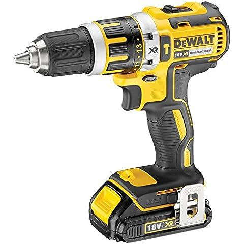DeWalt DCD795S2-QW - Taladro Percutor sin escobillas XR 18V 13mm 60Nm Li-Ion 1,5Ah con maletín