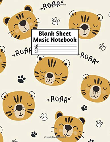 Blank Sheet Music Notebook: Easy Blank Staff Manuscript Book Large 8.5 X 11 Inches Musician Paper Wide 12 Staves Per Page for Piano, Flute, Violin, ... other Musical Instruments - Code : A4 8412