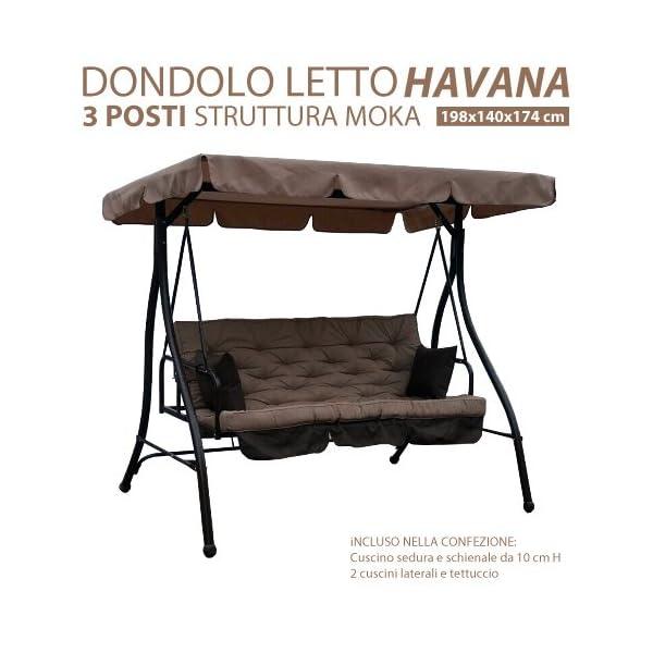 Dondolo Letto.Dondolo Letto Da Giardino 3 Posti Modello Havana Struttura In