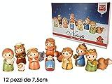 BUYSTAR Presepe presepio Set natività Tipo Thun Set presepe Completo 12 statuine Statua Personaggi Cartoon