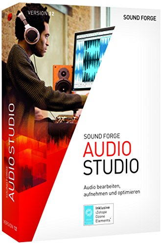 MAGIX SOUND FORGE Audio Studio 12|Standard|1 Device|Perpetual License|PC|Disc|Disc (Musik-aufnahme-studio-software)