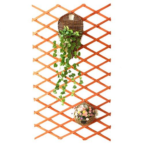 Cestino di fiori fioriera da esterno a parete in legno da appendere a parete con 2 ganci fiore display ( colore : arancia , dimensioni : 29*82cm )