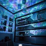 JIANGJIE Lumière De Projecteur D'océan Lumière Télécommande Star Hypnose Coloré pour La Décoration De Mariage � La Maison avec De La Musique,Black