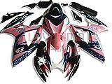 LoveMoto Verkleidung für GSX-R600 GSX-R750 K6 2006 2007 06 07 GSXR 600 750 ABS Spritzguss Kunststoff-Motorradverkleidung-Sets Rosa Schwarz