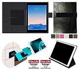 reboon Apple iPad Air 2 Hülle Tasche Cover Case Bumper   in Schwarz Leder   Testsieger