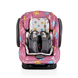 Cosatto Hug Isofix Car Seat Group 123, 9-36 kg, Happy Stars Hoppediz Suitable from birth until parent or child chooses to stop carrying 100% cotton Special broken twill weave 9