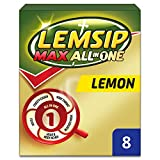 Lemsip Max All-in-One Lemon with Paracetamol - Pack of 8 Sachets