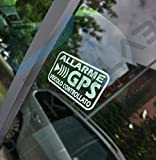 StickersLab - Adesivi Allarme GPS antifurto satellitare per Evitare i furti Auto Moto Camion Caravan (Bianchi, 4 Pezzi (12x6cm))