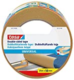 tesa UK Universal Double Sided Adhesive Tape for Fixing Carpets, 25 m x
