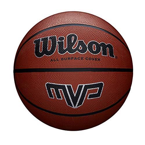 Wilson,Ballon de Basketball, MVP Basketball, Orange, Taille : 7, Caoutchouc, intérieur et extérieur, WTB1419XB07
