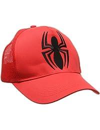 Spider-Man Mütze - Spider-Man Cap - DC Comics Spider-Man Trucker Cap - bestickt - Original Kappe von LOGOSHIRT - rot - Lizenziertes Originaldesign