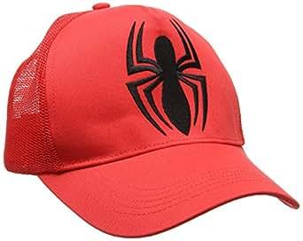 Casquette l 39 homme araign e casquette de baseball marvel comics spider man visi re super - Araignee rouge dangereux pour l homme ...