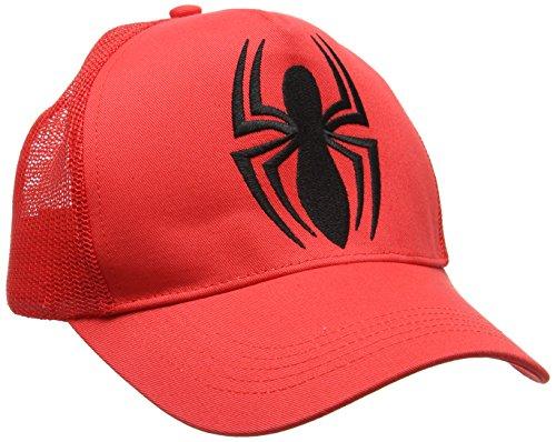 Marvel Spider-Man-Logo Casquette de Baseball, Red, Taille Unique Mixte