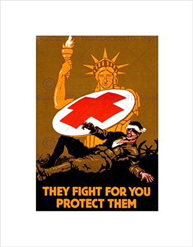 military-war-medical-red-cross-statue-liberty-soldier-framed-print-b12x11082