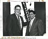 Vintage Photos Photo de Presse 1992 Walter Boasso, et Don Fontenelle à Hannan High School Auction...