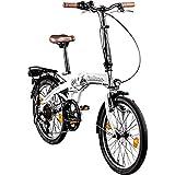 Galano Vélo Pliable Parklane, 6Vitesses Shimano, lumière, env. 50 cm