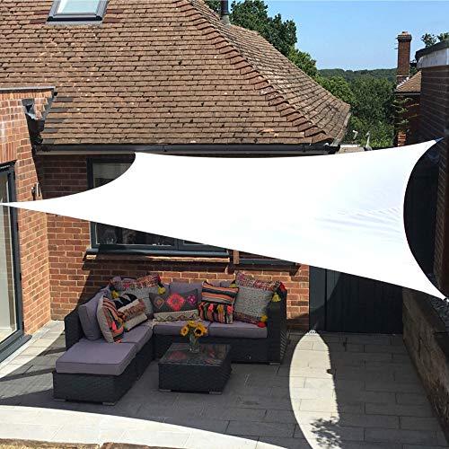Clara Sonnensegel, hochwertig, 95% UV-Schutz, wasserfest, Reinweiß, Baldachin, Sonnensegel, für Terrasse/Außenbereich/Innenbereich (Rectangle 4m x 5m, Weiß) - Baldachin Schlafzimmer Möbel
