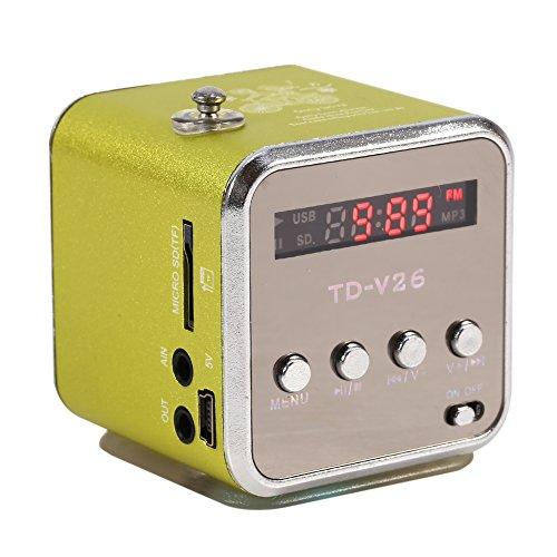 Zerone Digital Lautsprecher Mini Lautsprecher Musik Player FM Radio Stereo MP3MP4Musik Player PC Fashion Unterstützung TF Karte USB Disk FM Mp3 Mp4 Stereo