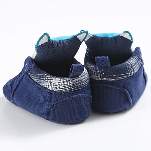 Jamicy Bambino ragazze ragazzi carino volpe modello alto taglio scarpe sneaker anti-scivolo Blu