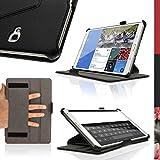 """igadgitz U3127 Funda de cuero para tablet Samsung Galaxy  Tab S 8.4"""" (soporte de sobremesa, correa de mano), Negro"""