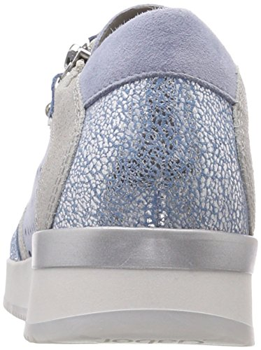 Gabor Damen Casual Derbys Blau (Cielo/Aquam./Argen)