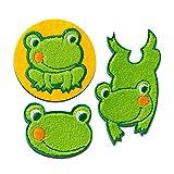 Aufnäher/Bügelbild - Set Frosch Tier - grün - verschiedene Größen - by catch-the-patch® Patch Aufbügler Applikationen zum aufbügeln Applikation Patches Flicken