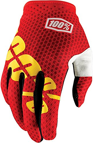 Preisvergleich Produktbild 100% 10002-067-11 iTRACK Handschuhe Fire Rot - M