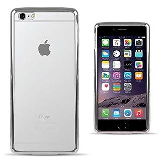 Moozy® Ultra dünne Super Slim Premium Transparent Silikon Handy Hülle / Schutzhülle für Apple iPhone 5 5S SE, mit metallischen - silber Rahmen