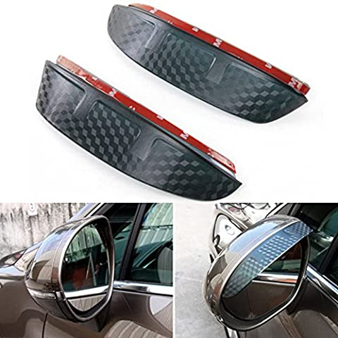 Eximtrade Car Carbon Fiber Rear View Mirror Rain Cover Visor Shield Protector Window