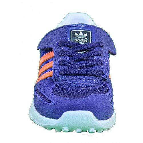 adidas Originals LA Trainer, Unisex Baby Lauflernschuhe violett - orange