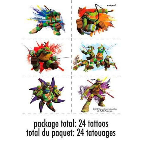 (1 X Nickelodeon Teenage Mutant Ninja Turtles Tattoo Sheets)