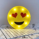 Super Cute Anthomaniac Emoji LED Night Light, Childen Kids Bedroom Decorative Table Lamps, Indoor LED Marquee Sign, Nice Kids Gift Toy