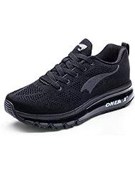 Onemix Las Zapatillas para Hombre - Deportes 3D Knit Colchón de Aire Trainer Funcionamiento atlético la