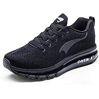 Onemix Las Zapatillas para Hombre - Deportes 3D Knit Air MAX Trainer Funcionamiento atlético Flyknit la Zapatilla de Deporte