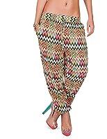 24brands - Damen Stoffhose / Freizeithose / Baumwollhose / Muster Hose in vier Farben - 2708